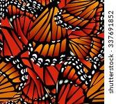 Seamless Monarch Butterfly...