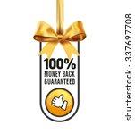 money back guaranteed label | Shutterstock .eps vector #337697708