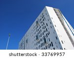 Modern architecture building in Assago, Milan, Italy - stock photo