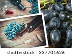 beautiful collage with the wine ... | Shutterstock . vector #337701626