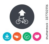 bicycle path trail sign icon.... | Shutterstock .eps vector #337702556