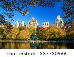central park in autumn with... | Shutterstock . vector #337730966