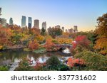 central park in autumn with... | Shutterstock . vector #337731602