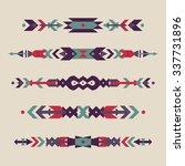 vector set of decorative ethnic ... | Shutterstock .eps vector #337731896