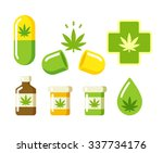 medical marijuana icons  pills  ... | Shutterstock . vector #337734176