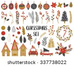 collection of vintage merry... | Shutterstock .eps vector #337738022