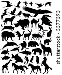 collection of animal vector... | Shutterstock .eps vector #3377393