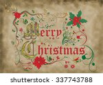 medieval illuminated manuscript ... | Shutterstock . vector #337743788