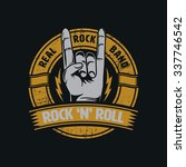rock and roll graphic for t... | Shutterstock .eps vector #337746542