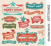 christmas retro design icon set ... | Shutterstock .eps vector #337751402