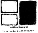 grunge frame texture set  ...   Shutterstock .eps vector #337753628