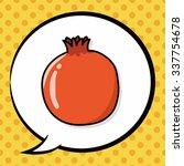 fruits orange doodle  speech... | Shutterstock .eps vector #337754678