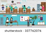 people working at office in... | Shutterstock .eps vector #337762076