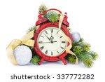 Christmas Clock  Bauble Decor...