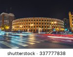 night view of a bullring arena... | Shutterstock . vector #337777838
