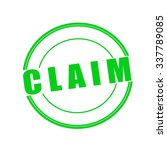 Claim Green Stamp Text On...