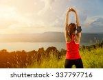 women warm up before a morning... | Shutterstock . vector #337797716
