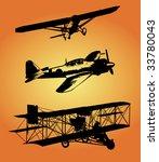 biplane | Shutterstock .eps vector #33780043