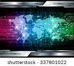 pink blue green light abstract... | Shutterstock .eps vector #337801022