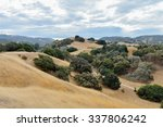 rolling hills and fields of dry ... | Shutterstock . vector #337806242