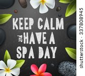 keep calm have a spa day ...   Shutterstock .eps vector #337808945