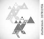 vector hipster triangle... | Shutterstock .eps vector #337811936
