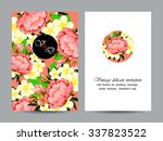 abstract flower background with ... | Shutterstock . vector #337823522
