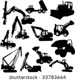 construction machines   vector | Shutterstock .eps vector #33783664