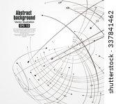 sphere wireframe constructed... | Shutterstock .eps vector #337841462