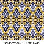 seamless tile background  blue  ...   Shutterstock .eps vector #337841636