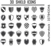shield icons set. | Shutterstock .eps vector #337843346