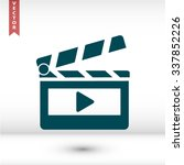 clapper board  icon. one of set ... | Shutterstock .eps vector #337852226