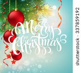 christmas greeting card.... | Shutterstock . vector #337859192