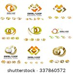 set of company logotype... | Shutterstock .eps vector #337860572
