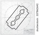 vector blueprint of blade icon... | Shutterstock .eps vector #337862642