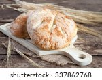 homemade bread with cheese ... | Shutterstock . vector #337862768