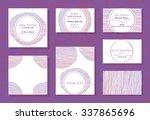set of wedding cards ... | Shutterstock .eps vector #337865696