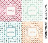 set of mono line polygon... | Shutterstock .eps vector #337872896