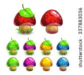 cute cartoon vector mushrooms...