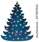 Christmas Tree Silhouette Topi...