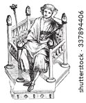 chair of the twelfth century ... | Shutterstock .eps vector #337894406