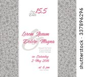 invitation wedding card with... | Shutterstock .eps vector #337896296