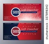 christmas gift voucher template ... | Shutterstock .eps vector #337898342