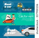 rent a car. trading car in flat ... | Shutterstock .eps vector #337900106