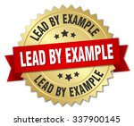 lead by example 3d gold badge... | Shutterstock .eps vector #337900145