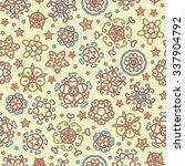 bright fantasy flowers seamless ... | Shutterstock .eps vector #337904792
