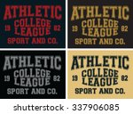 athletic college league  t... | Shutterstock .eps vector #337906085