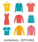 clothes icons set with skirt ... | Shutterstock .eps vector #337911062