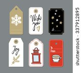 set of cute christmas gift tags ... | Shutterstock .eps vector #337912895