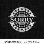 sorry chalkboard emblem written ... | Shutterstock .eps vector #337915412